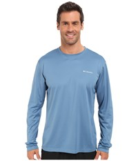 Columbia Zero Rules L S Shirt Steel Men's Long Sleeve Pullover Silver