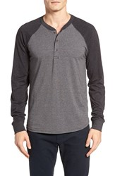 Tailor Vintage Men's Baseball Henley Charcoal