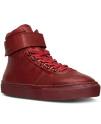 K Swiss Men's High Court Casual Sneakers From Finish Line Red Red