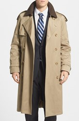 Men's Big And Tall Hart Schaffner Marx 'Barrington' Cotton Blend Trench Coat Tan
