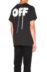 Off White Silver Tee In Black