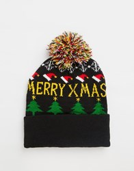 7X Christmas Bobble Hat Blue