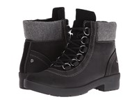 Hush Puppies Dorris Fairley Black Wp Leather Women's Cold Weather Boots