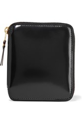 Comme Des Garcons Glossed Leather Wallet Black