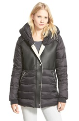 Sam Edelman Puffer With Faux Shearling Black