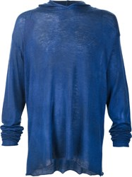 The Elder Statesman Dyed Hoodie Blue
