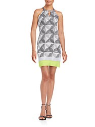 Laundry By Shelli Segal Printed Shift Dress Lime Punch