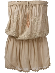 Melissa Odabash 'Fruley' Embroidered Dress Nude And Neutrals