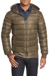 7 For All Mankind Quilted Down Jacket Army