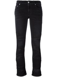 Alexander Mcqueen Cropped Jeans Black