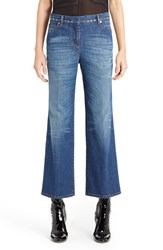 Women's Valentino Studded Wide Leg Jeans Medium Blue
