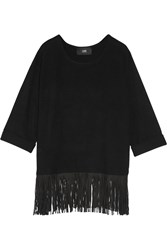 Line Hayes Fringed Wool And Cashmere Blend Sweater Black