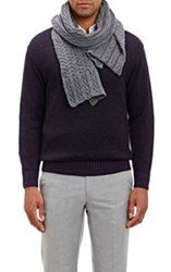 Inis Meain Cable Knit Scarf Grey