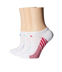 Adidas Climacool Superlite 3 Pack No Show Socks White Shock Blue Bold Pink Green Glow Women's No Show Socks Shoes