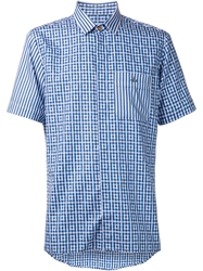 Vivienne Westwood Stripe And Check Shirt White