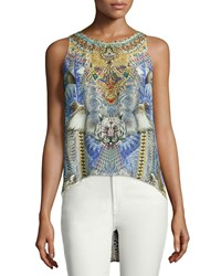 Camilla Shamanic By Nature Mixed Print Tank Top Women's