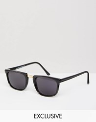 Reclaimed Vintage Square Sunglasses Black