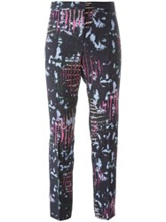 Versace Abstract Print Trousers Blue