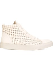 The Last Conspiracy 'Edgar' Hi Top Sneakers Nude And Neutrals