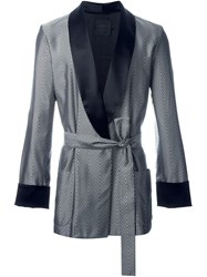 La Perla Jacquard Chevron Dressing Gown Grey