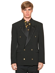 Vivienne Westwood Double Breasted Wool Organza Jacket Black