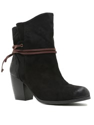 Qupid Maze Ankle Boot Black