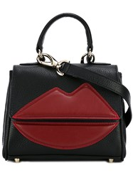 Sara Battaglia Small 'Lips' Tote Black