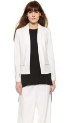 Double Layered Blazer Off White