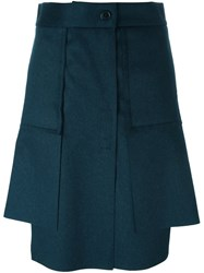 Vivienne Westwood Red Label Asymmetric Pleated Short Skirt Blue