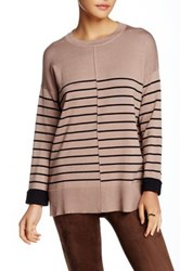 Fate Striped Sweater Beige