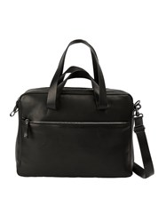 Marsell Front Zip Briefcase Black