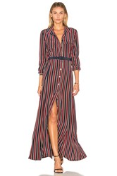 Ganni Donaldson Silk Maxi Dress Burgundy