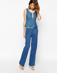 Baandsh Booling Trousers In Chambray Blue