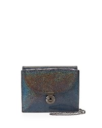 Piper Hologram Evening Clutch Bag Midnight Lauren Merkin Black