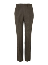 Chester Barrie Flannel Trousers Brown