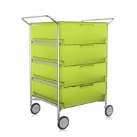 Kartell Mobil 4 Drawer Handles And Wheels Citron Yellow