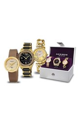 Akribos Xxiv Women's 3 Piece Watch Set Metallic