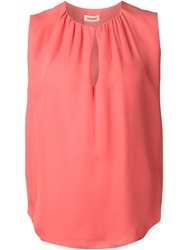 L'agence Sleeveless Pleated Blouse