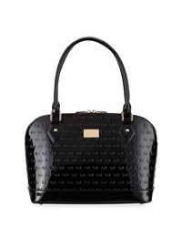 St. John Patent Logo Embossed Tote Bag Black