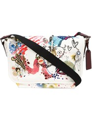 Marc Jacobs 'Collage Print' Messenger Bag White
