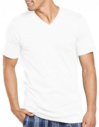 Jockey Slim Fit Stay New Knit V Neck T Shirt White