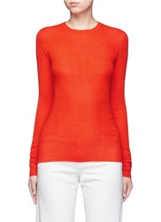 Vince Cashmere Rib Knit Sweater Red