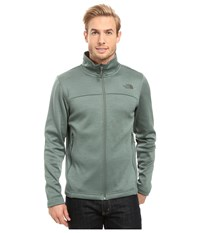 The North Face Schenley Full Zip Duck Green Heather Men's Fleece Blue