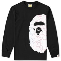 A Bathing Ape Pencil Neon Camo Side Big Head Lt Tee Black