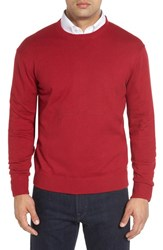 Robert Talbott Men's 'Jersey Sport' Cotton Blend Crewneck Sweater Brick