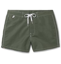 Sundek Rainbow Mid Length Swim Shorts Green