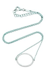 As29 La Collection Oval Diamond Single Chain Choker In Turquoise Blue
