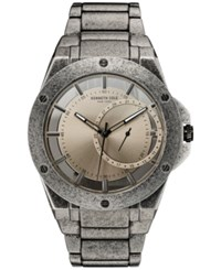 Kenneth Cole New York Men's Antique Finish Stainless Steel Bracelet Watch 46Mmx52mm 10030787 Silver