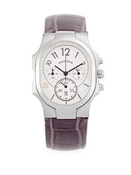 Philip Stein Teslar Classic Rectangle Strap Watch Purple