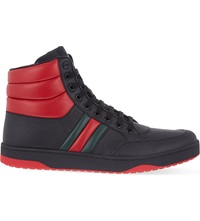 Gucci Ronnie Padded High Top Trainers Black